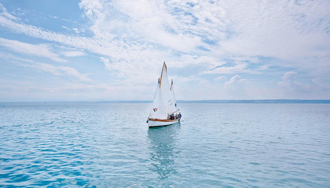 Seegelboot auf dem Bodensee