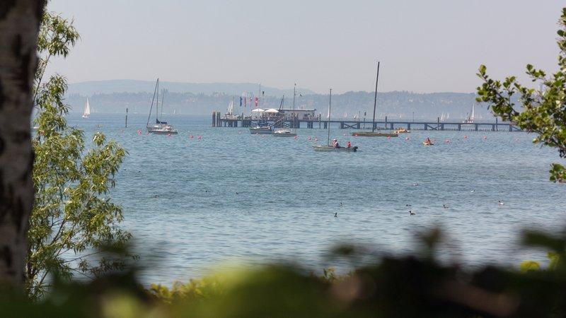 Campen direkt am Ufer des Bodensees