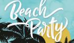 Schriftzug Beach Party