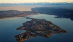 Insel Reichenau aus der Luft