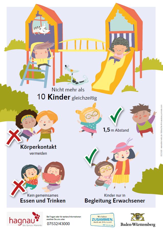 Plakat Regeln Spielplätze